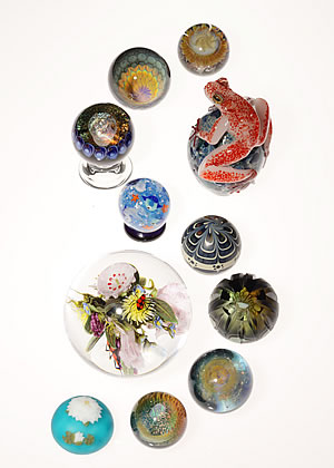 the ART exhibition of glass MARBLE & PAPERWEIGHT 2009