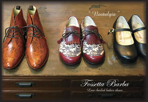 Fossetta Barba Low-heeled ladies shoes 革靴展